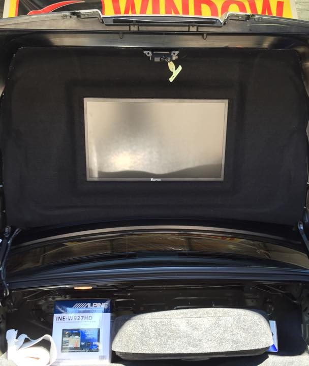 Finished Project -Flat Screen Install in Trunk Lid