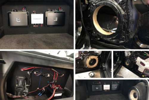 """Amp Rack and Sub Box with Mosconi 6 to 8 Pro and Alpine Amps and 12""""Flax Sub"""